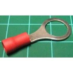M10 Ring Terminal, Crimp, Red
