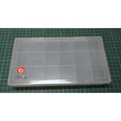 Box for small parts, 215x120x35mm, 18 compartments
