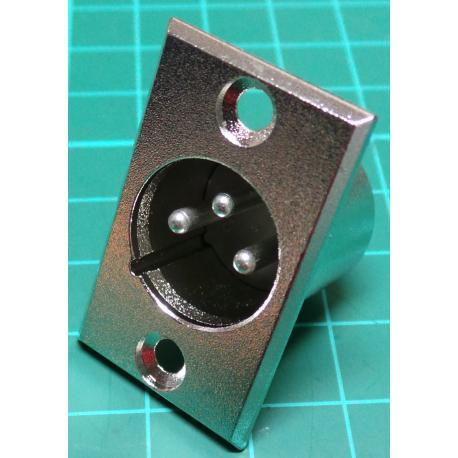 XLR, 3 Pin, Plug, Panel Mount