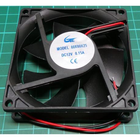 Fan, 92x92x25, 12V, 0.25A, 2800RPM