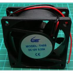 Fan, 60x60x25, 12V, 0.15A, 4000RPM