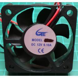Fan, 50x50x10, 12V, 0.09A, 5000RPM