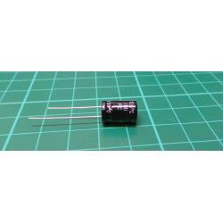 220u/35V 105° 8x12x5mm, elektrolyt.kondenzátor radiální