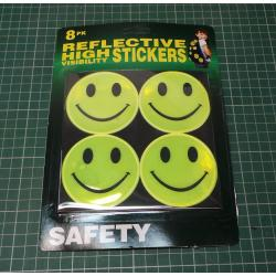Pack of 8 Hi Visibility Smiley Stickers