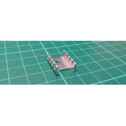 Heatsink, Silver, TO220, 19.1mm x 13.3mm x 9.4mm