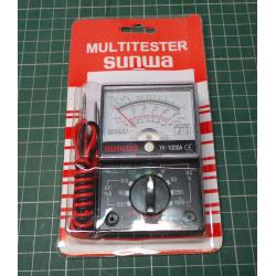 Analogue Multimeter YX-1000A, Installed Battery out of date, takes 1 AA Battery