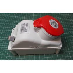 Zásuvka 230/400V/32A 5kolík FANTON 73325 s vypínačem, IP44
