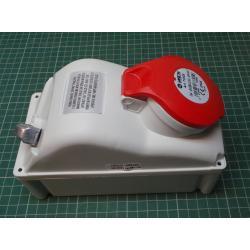Zásuvka 230/400V/16A 5kolík FANTON 73305 s vypínačem