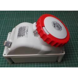 Zásuvka 230/400V/32A 5kolík FANTON 73365 s vypínačem, IP67