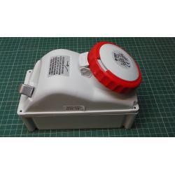Zásuvka 230/400V/16A 5kolík FANTON 73345 s vypínačem, IP67