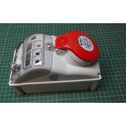 Zásuvka 230/400V/16A 5kolík FANTON 73315 s vypínačem, IP44