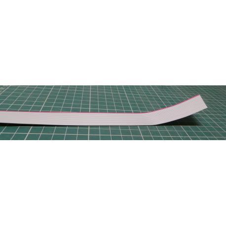 Vodič: plochý kabel, 1,27mm, licna, Cu, 20x28AWG, PVC, šedá, 30,5m