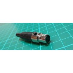 mini XLR, 3 Pin, female, cable mount