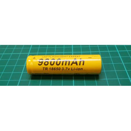 10Pcs 3.7V 18650 9800mah Li-ion Rechargeable Battery For LED Flashlight Torch TP