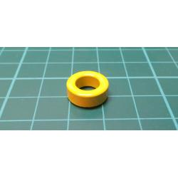 7mm Inner Diameter Ferrite Ring Iron Toroid Cores Yellow White 50PCS M3S0