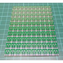 100Pcs Sot23 -3 To Dip Sip3 Adapter Pcb Board Converter Double-Side Smd Ic New Q