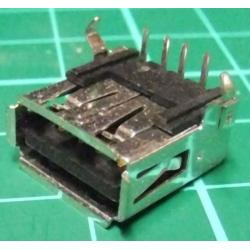 USB Connector, PCB, Right Angle