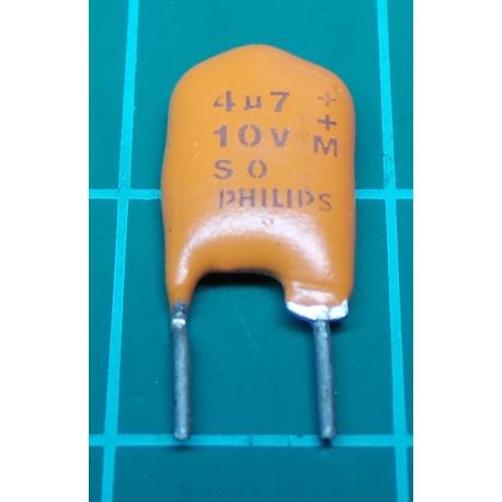 Capacitor, 4.7uF, 10V, Tantalum
