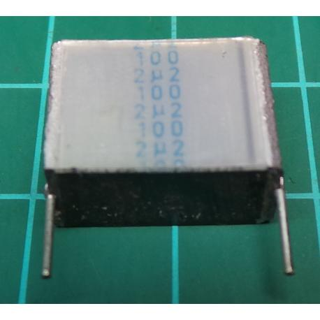 Capacitor, 2.2uF, 100V, Polyester Film, RS Branded (Probably EPCOS)