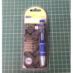 Micro Screwdriver set with 9 bits