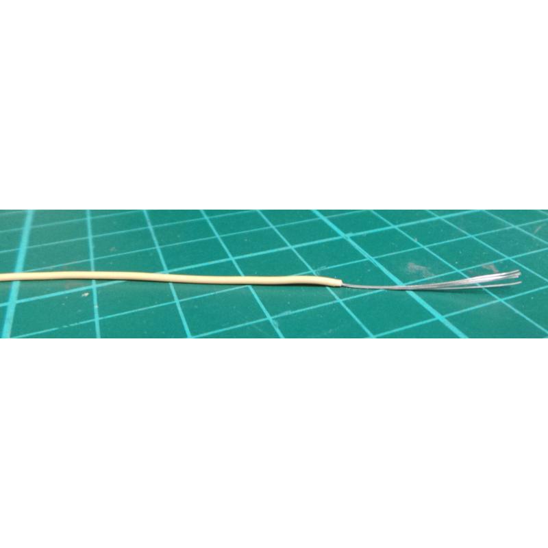 26AWG, 0.13mm2, 7/0.15mm Yellow PVC 80deg 150V (UL1429) - DSMCZ