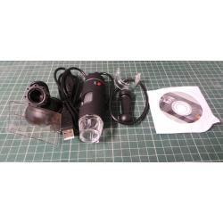 Endoscope, 50-500X, 2MP, USB, 8 LED