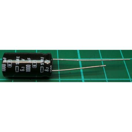 Capacitor, 1000uF, 6.3V, Radial, Electrolitic