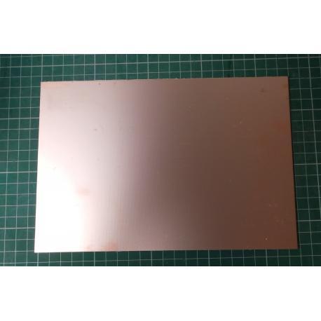 Cuprextit 225x155x1,5mm, jednostranný, materiál FR4 35um