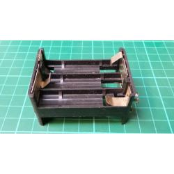 Battery Holder, 6x R6/AA/UM3, with 9V Connector, Russian
