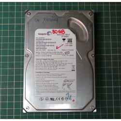 USED Hard Disk, Desktop, SATA, 80GB