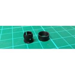 LED Bezel, 5mm, 2 piece, black, plastic, MOSTEN LD500