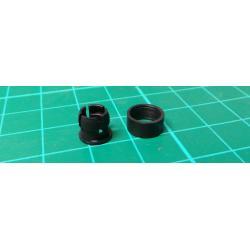 LED socket 5mm 2 piece black plastic MOSTEN LD500