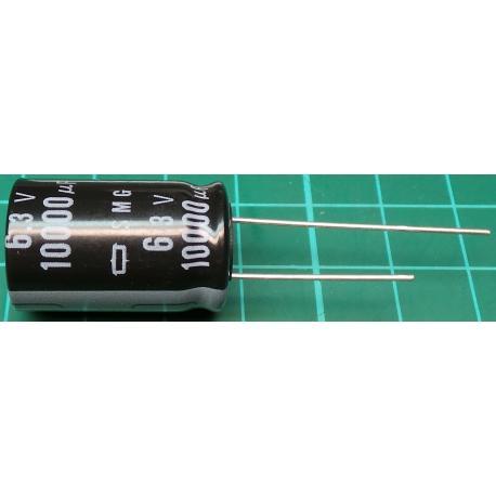 Capacitor, 10000uF, 6.3V, Radial, Electrolitic