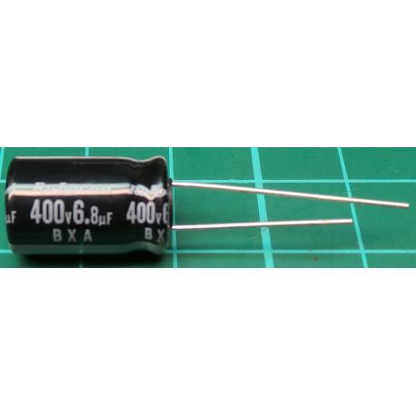 Capacitor, 6.8uF, 400V, Radial, Electrolitic