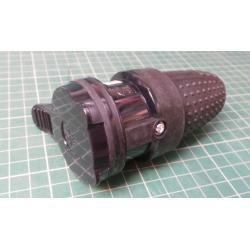 Zasuvka 230V, primy privod, cerna gumova, kryti IP44
