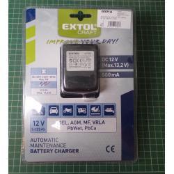 Car charger, 12V, 500mA, EXTOL CRAFT, 417302