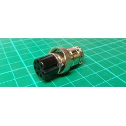 MIC socket with 8p cable nut