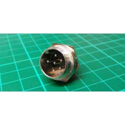 MIC connector with 6p threaded panel