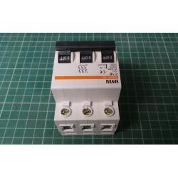 DIN MCB, 16A, Type C, 400V, 3 Phase