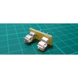 Fuse holder for PCB fuses 5x20mm