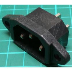 IEC Mains Inlet, Panel mounting Plug