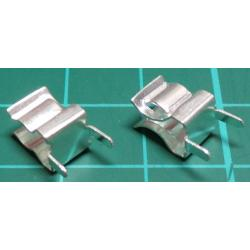 Fuse Holder pair, PCB Mount, for 5mm fuse, bare