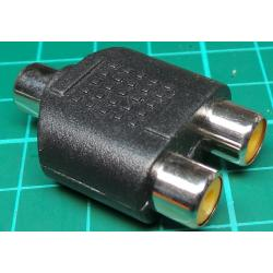 2xRCA Socket to 1xRCA Socket, Adaptor