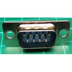 D Type, Plug, 9 Pin D, Solder Bucket