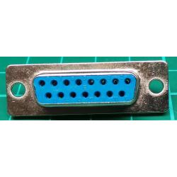 D Type, Socket, 15 Pin D, Solder Bucket