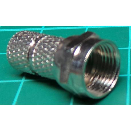 F Type connector 5mm Screw on type (for RG58 etc)