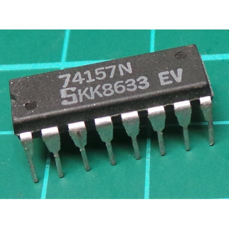74157N, quad 2-line to 1-line data selector/multiplexer, noninverting