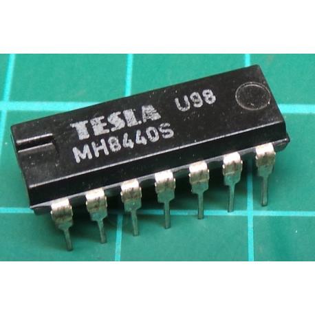 MH8440S (Hi spec 7440), TESLA, dual 4-input NAND buffer