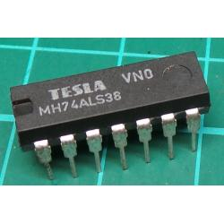 7438, MH74ALS38, TESLA, quad 2-input NAND buffer with open collector outputs