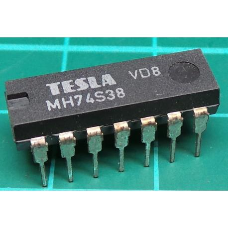 MH74S38, TESLA, quad 2-input NAND buffer with open collector outputs